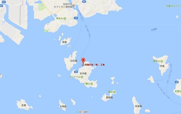 岡山県 北木島 北木石