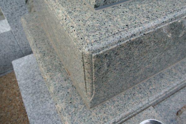 新潟県産草水石(くそうずいし) お墓 墓石 板碑型 銀杏面
