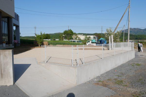 外構工事 現場打ち擁壁 土間コンクリート フェンス工事