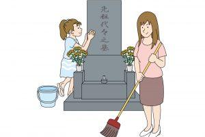 墓掃除 お墓参り