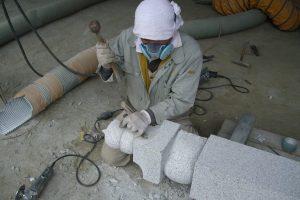 茨城県桜川市 羽黒石材工業加工工場