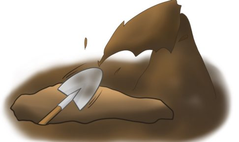 土葬 穴掘り